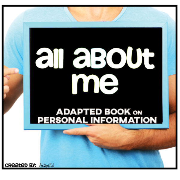 All About Me Personal Information Adapted Book Cover