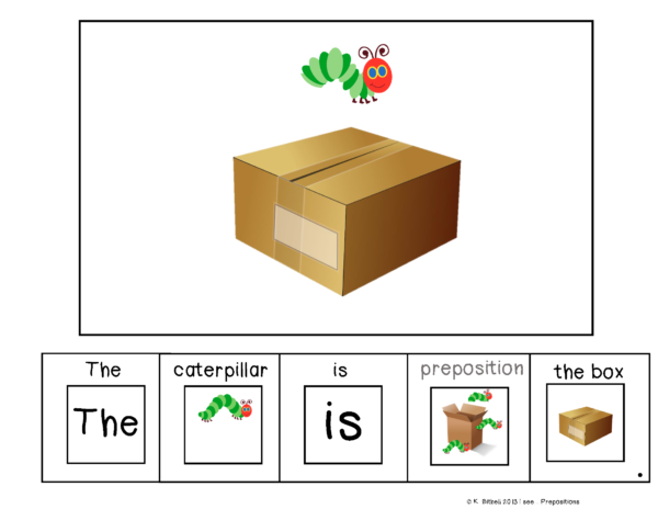 Prepositions Adapted Book and Task Cards is a great hands on activity to teach prepositions and spatial concepts. Works great with students with special needs.