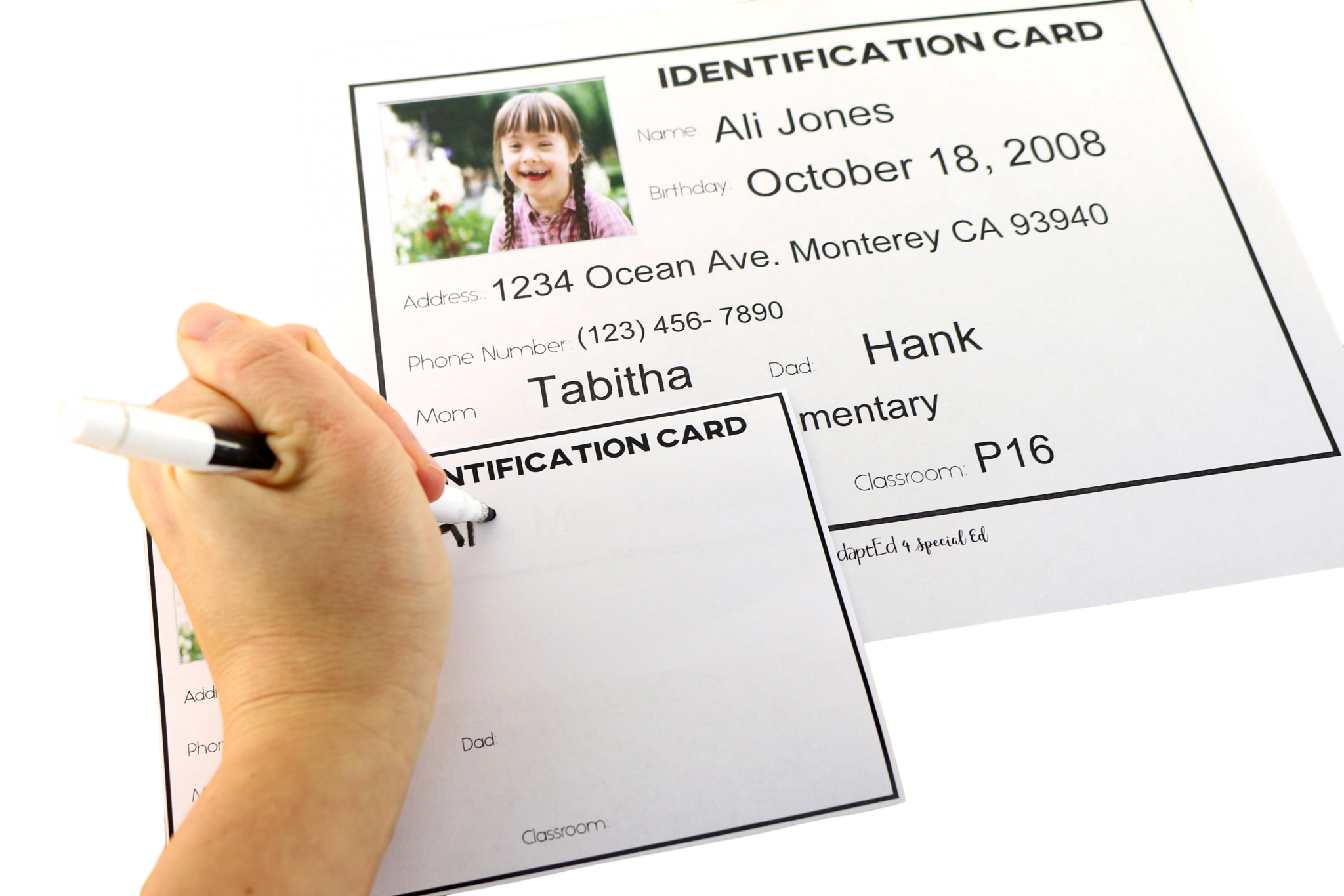 Identification Cards Special Needs