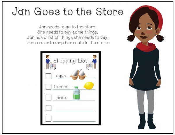 Get your students ready for your CBI trips by teaching them how to follow a shopping list and map their route throughout the store.