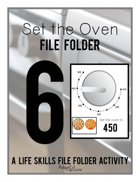Set the oven file folders provide special education students the hands on practice they need to master this skill.