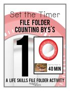 Set the timer file folders provide special education students the hands on practice they need to master this skill.